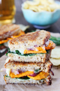 Fall and Winter Grilled Cheese Recipes - Sweet Potato and Kale Grilled Cheese - twopeasandtheirpod.com | https://www.roseclearfield.com