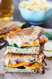 Fall and Winter Grilled Cheese Recipes - Sweet Potato and Kale Grilled Cheese - twopeasandtheirpod.com | http://www.roseclearfield.com