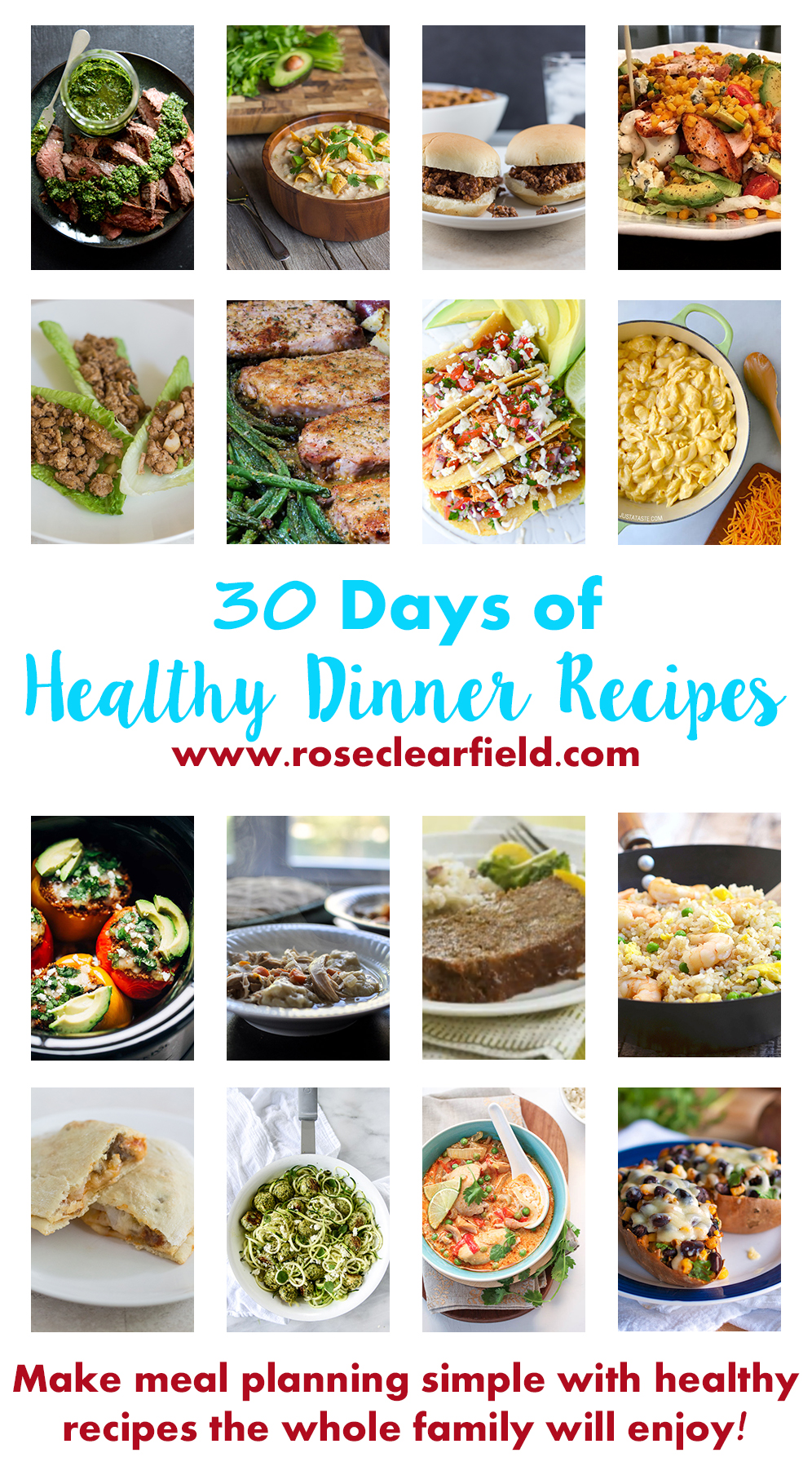 30 days of healthy dinner recipes rose clearfield 30 days of healthy dinner recipes make meal planning stress free with simple forumfinder Gallery