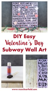 DIY Easy Valentine's Day Subway Wall Art | http://www.roseclearfield.com