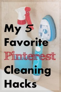 My 5 Favorite Pinterest Cleaning Hacks | http://www.roseclearfield.com