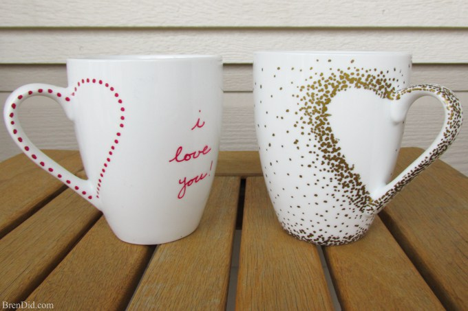 Last-Minute DIY Valentine's Day Ideas - Sharpie Mug Tutorial via Bren Did | http://www.roseclearfield.com