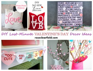 Last Minute DIY Valentine's Day Decor Ideas...create cute, festive decor quickly without breaking the bank!   http://www.roseclearfield.com