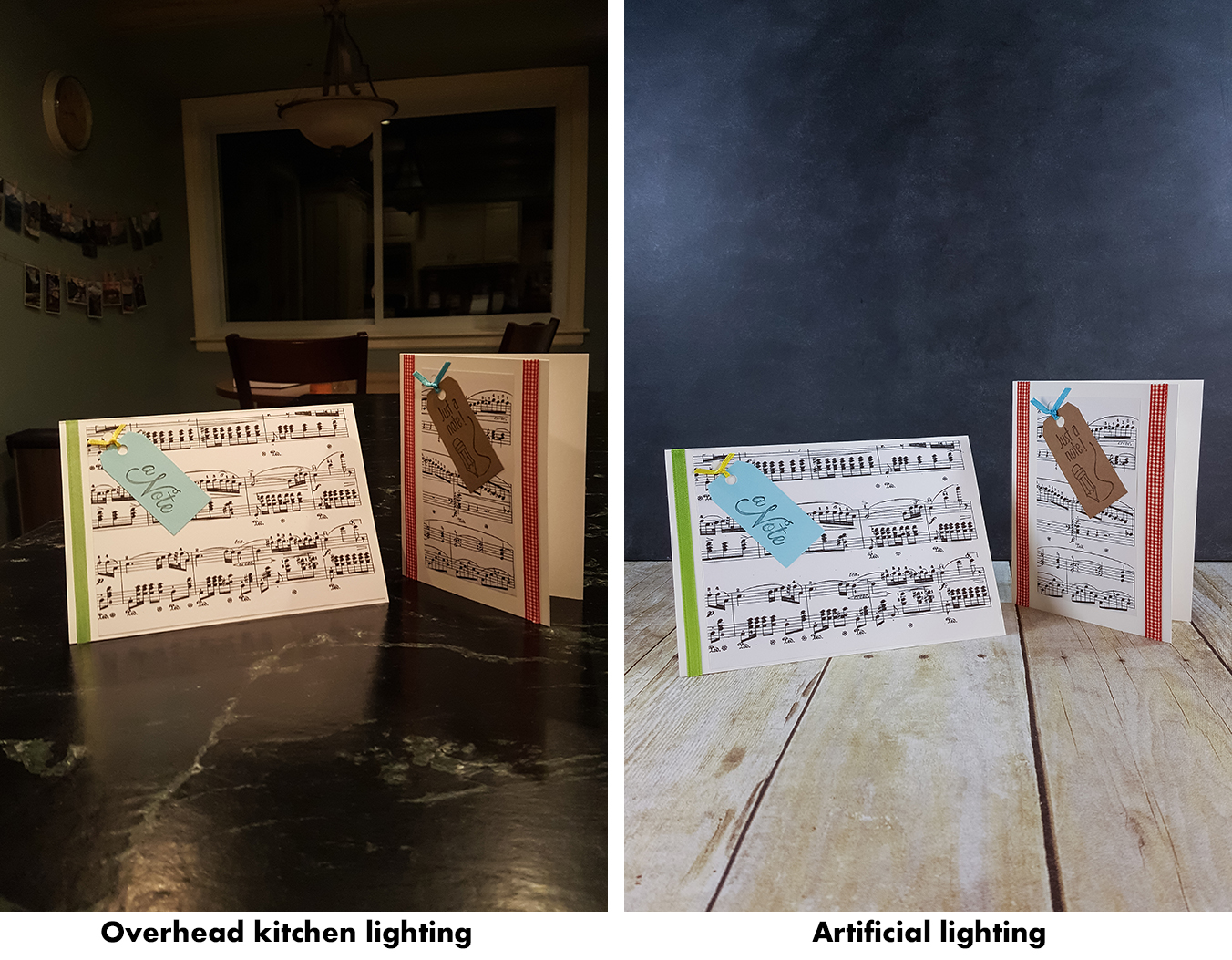 How to Take Better Photos for Your Blog With Your Phone - Overhead kitchen lighting vs. artificial lighting. | http://www.roseclearfield.com