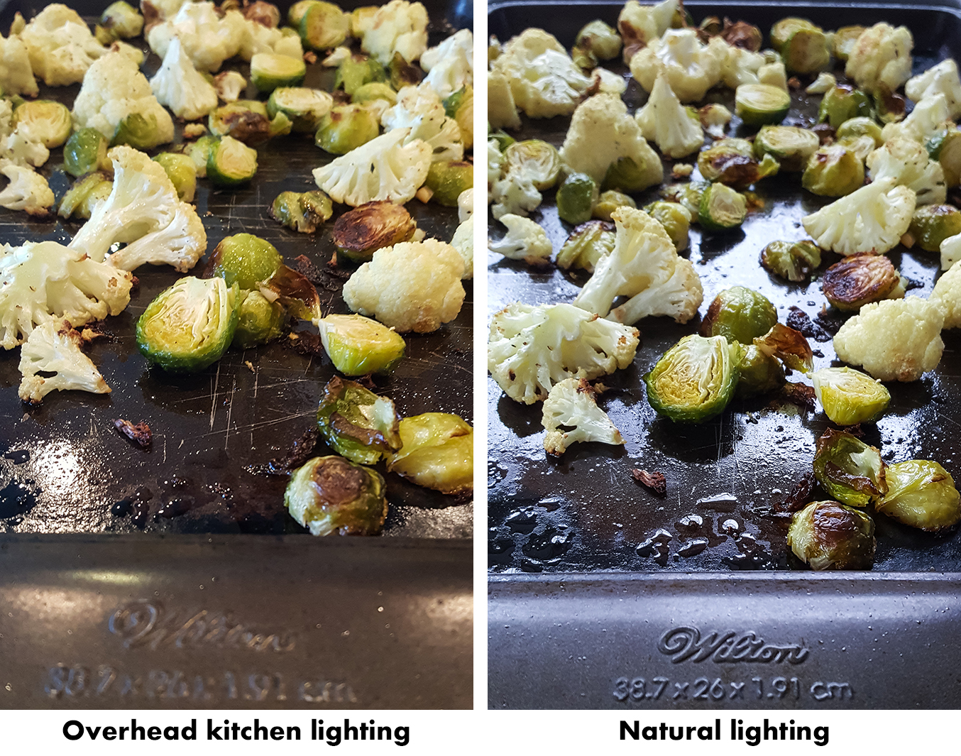 How to Take Better Photos for Your Blog With Your Phone - Overhead kitchen lighting vs. natural lighting. | http://www.roseclearfield.com