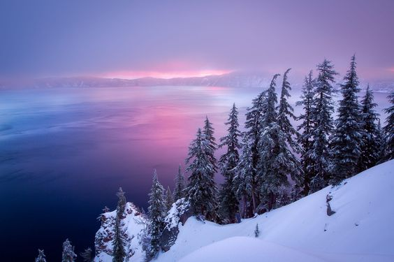 Winter Sunrise at Crater Lake by David Swindler 500px.com