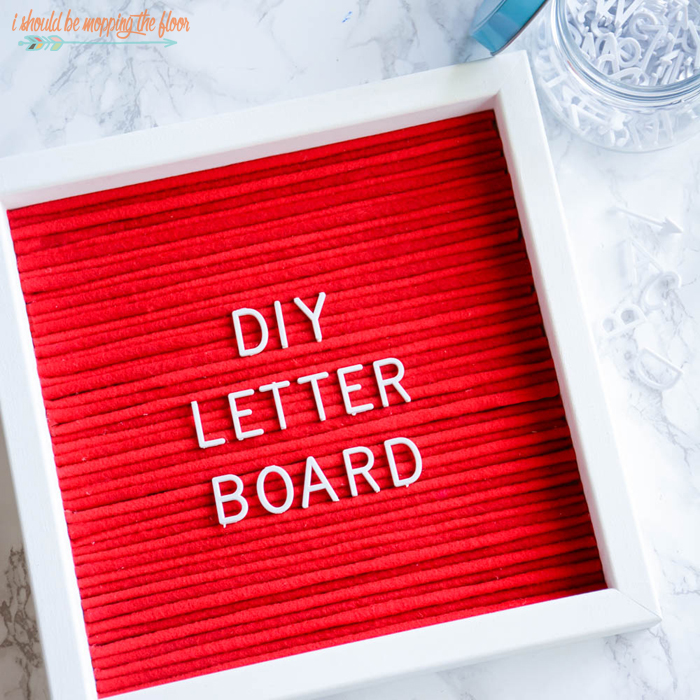 Last-Minute DIY Valentine's Day Gift Ideas - DIY Letter Board via I Should Be Mopping the Floor | http://www.roseclearfield.com