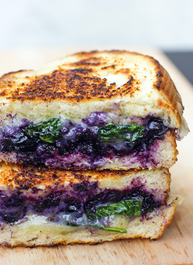 Balsamic Blueberry Grilled Cheese via Best Friends for Frosting | http://www.roseclearfield.com