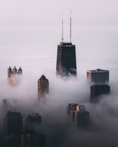Chicago in the Fog by Michael Salisbury (msalisbu) on Instagram | https://www.roseclearfield.com
