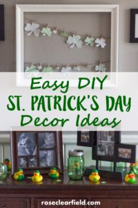 Easy DIY St. Patrick's Day Decor Ideas | https://www.roseclearfield.com