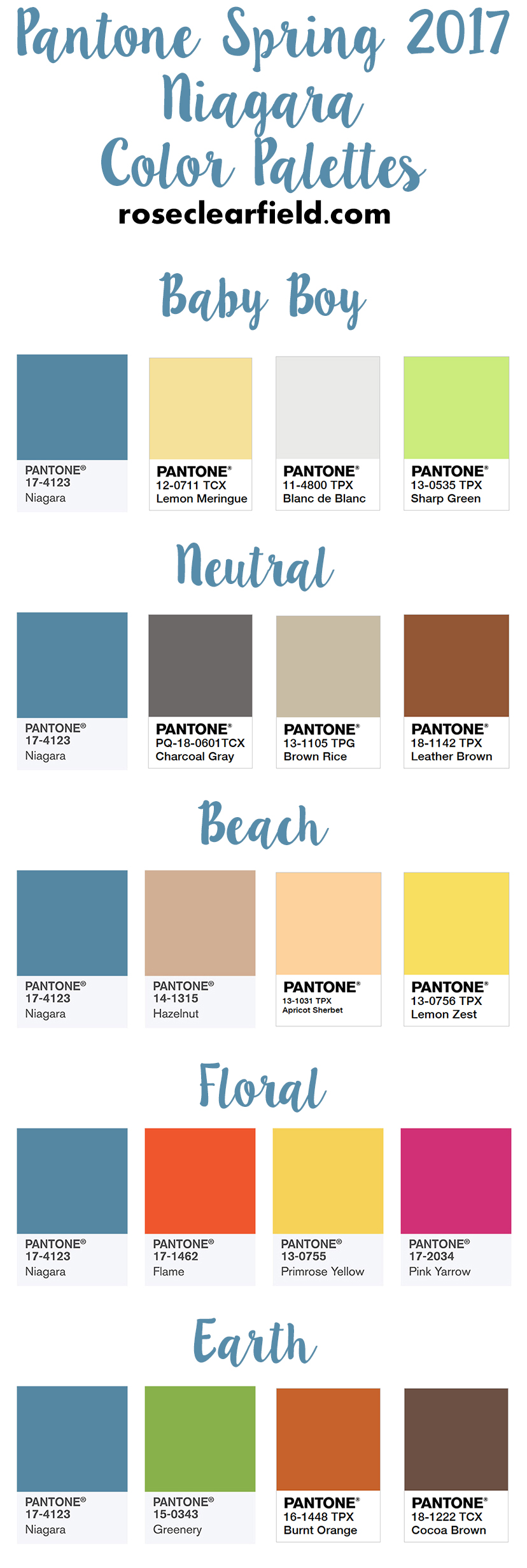 Pantone Spring 2017 Niagara Color Palettes | https://www.roseclearfield.com