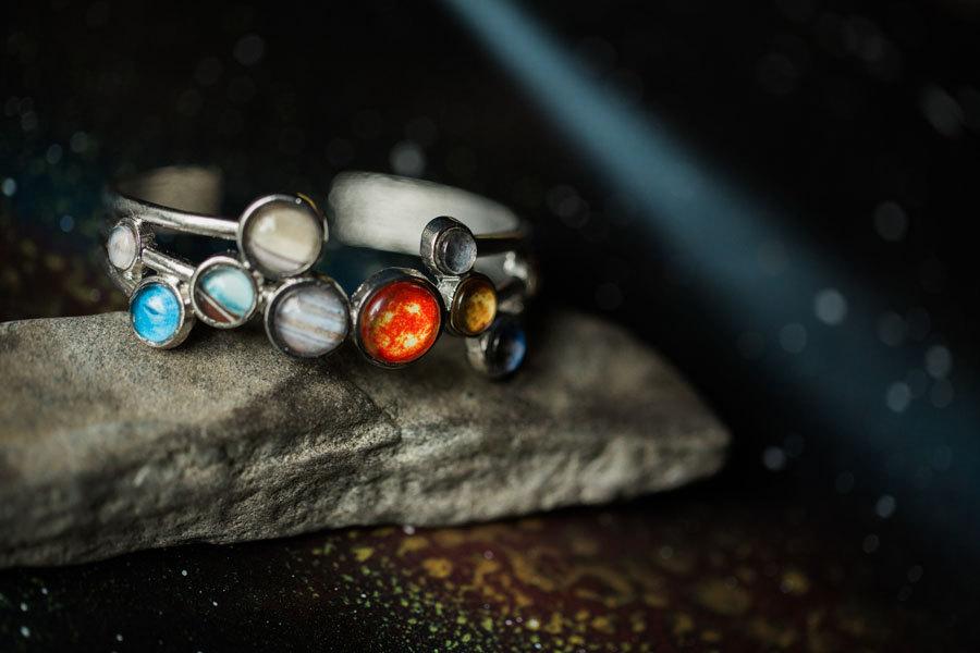 Yugentribe Solar System Bracelet | http://www.roseclearfield.com