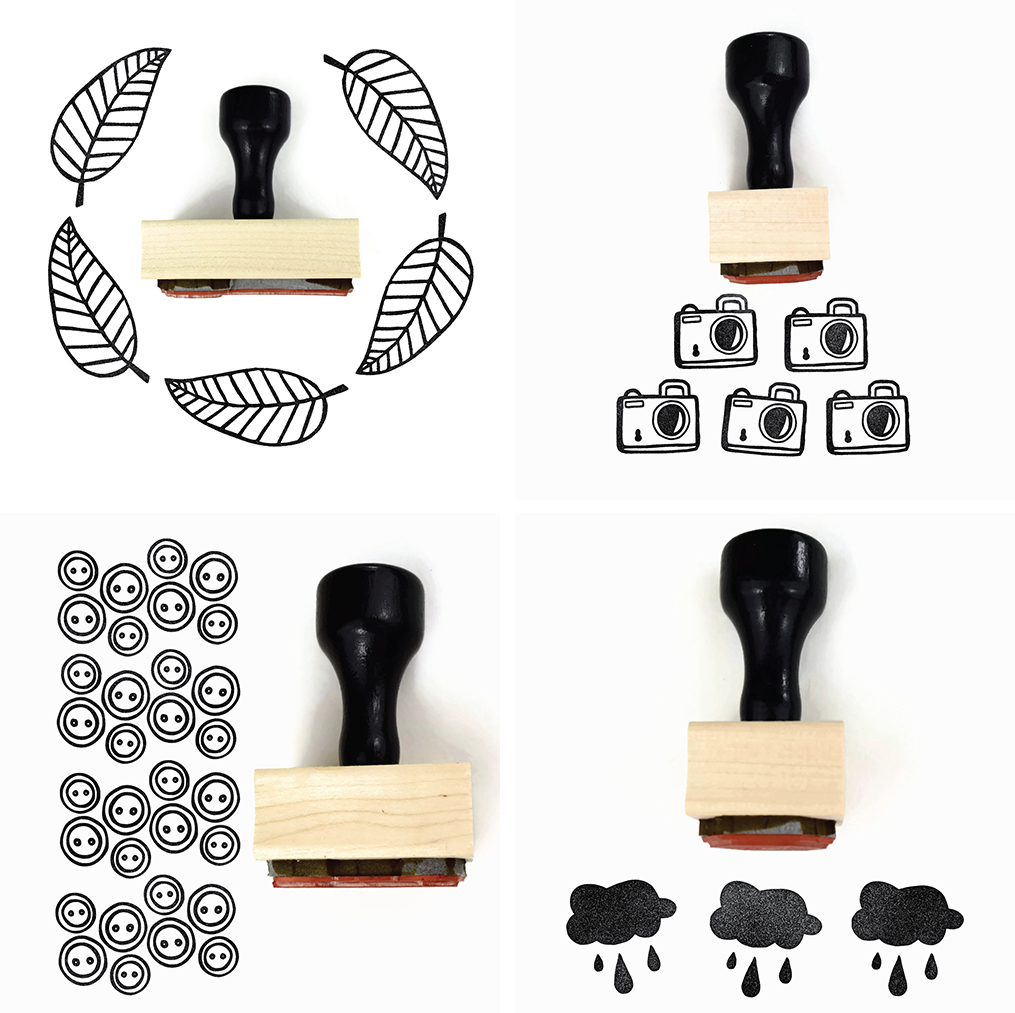 creatiate rubber stamps collage | http://www.roseclearfield.com