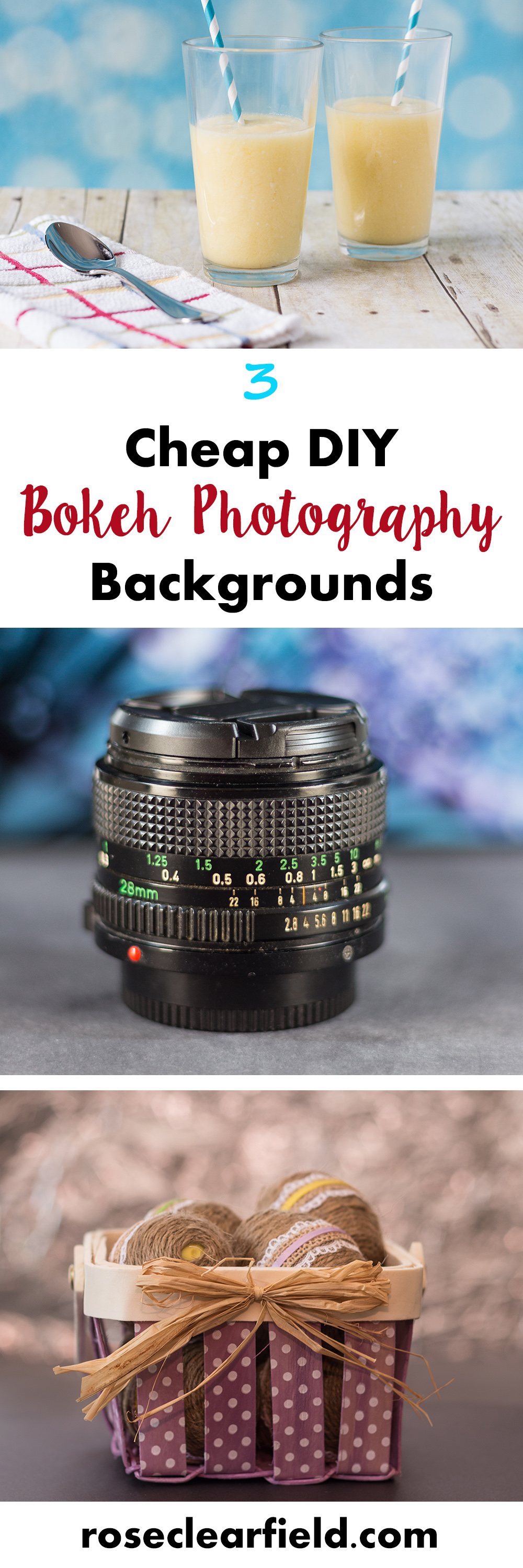 3 Cheap DIY Bokeh Photography Backgrounds | http://www.roseclearfield.com