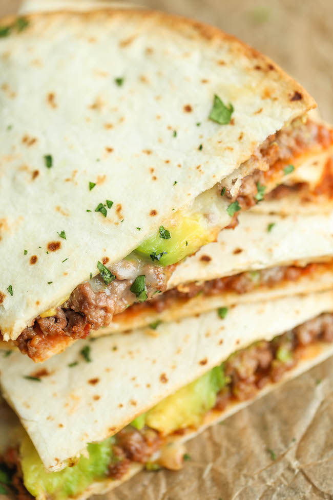 Cinco de Mayo Party Food Ideas - Cheesy Avocado Quesadillas via Damn Delicious | https://www.roseclearfield.com