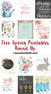 Free Spring Printables Round Up | http://www.roseclearfield.com