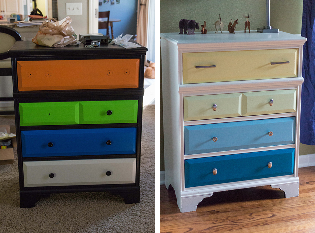 Nursery Dresser Before and After | http://www.roseclearfield.com