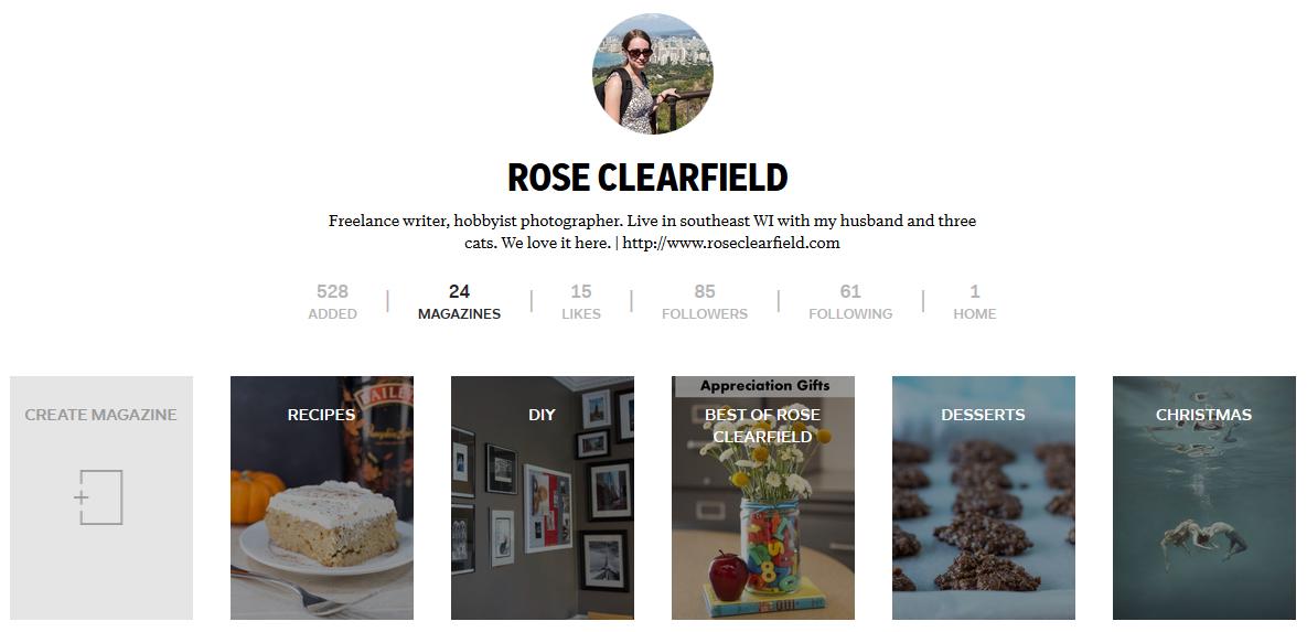 Flipboard Magazines   http://www.roseclearfield.com