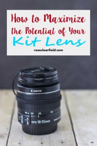 How to Maximize the Potential of Your Kit Lens | http://www.roseclearfield.com