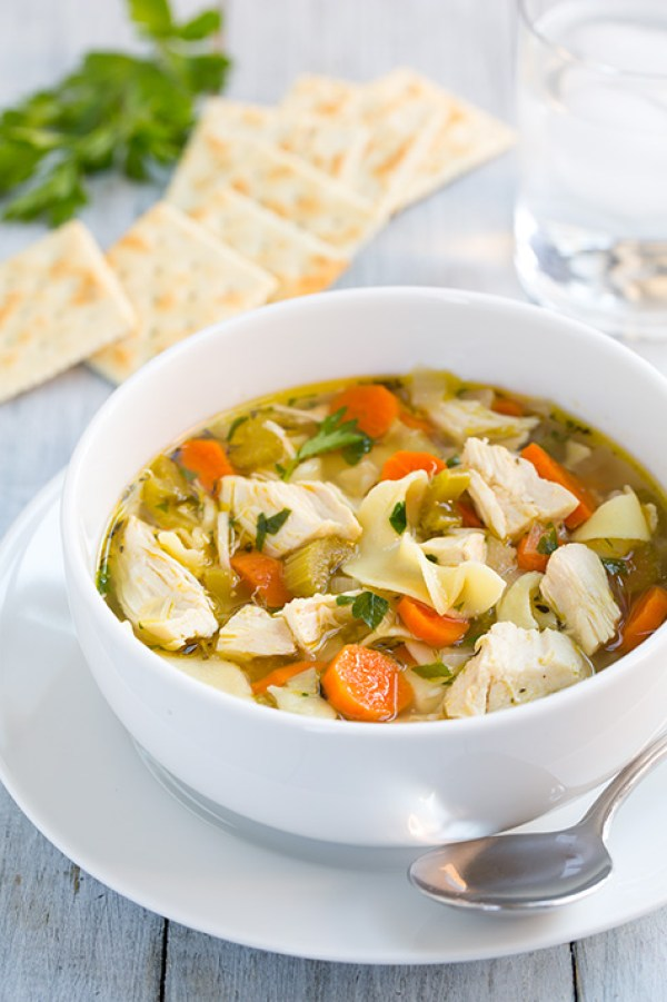 30 Days of Healthy Chicken Dinner Recipes - Slow Cooker Chicken Noodle Soup Cooking Classy | http://www.roseclearfield.com