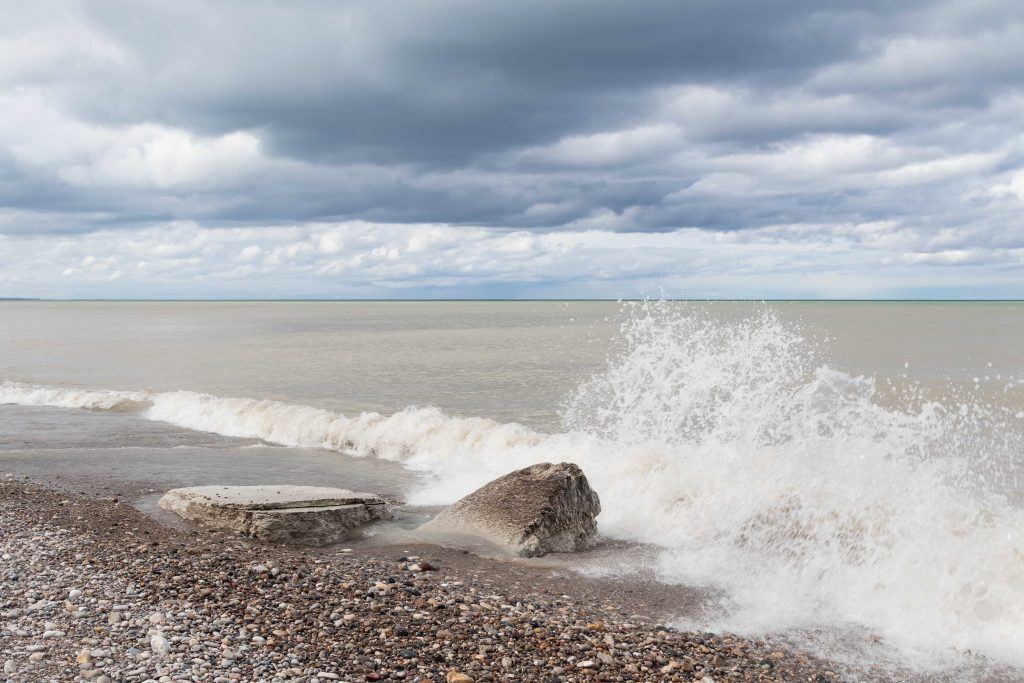 Stormy Beach Early May 2017 | https://www.roseclearfield.com