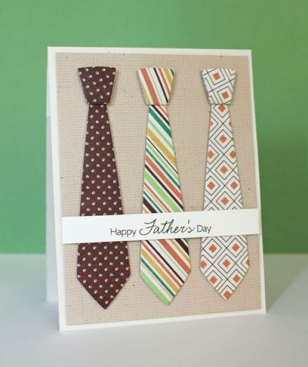 Last Minute DIY Father's Day Gift Ideas - Father's Day Necktie Card via Prairie Paper and Ink | http://www.roseclearfield.com