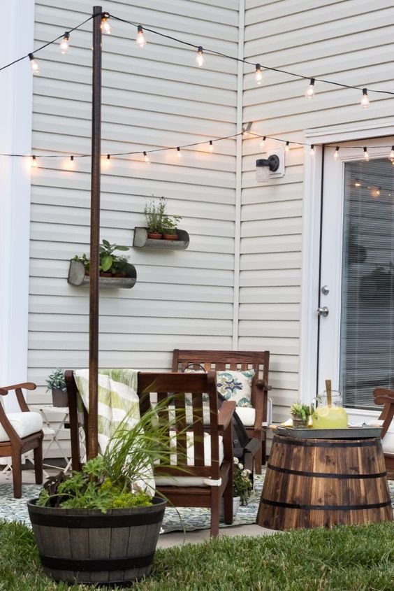 Summer Inspiration - How to Decorate a Small Patio via Bless'er House | http://www.roseclearfield.com