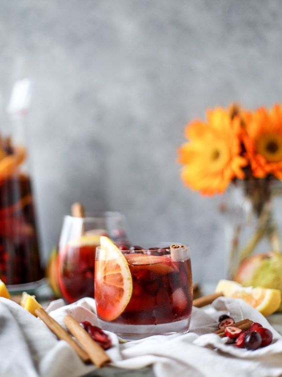Cranberry Chai Sangria via How Sweet It Is | http://www.roseclearfield.com