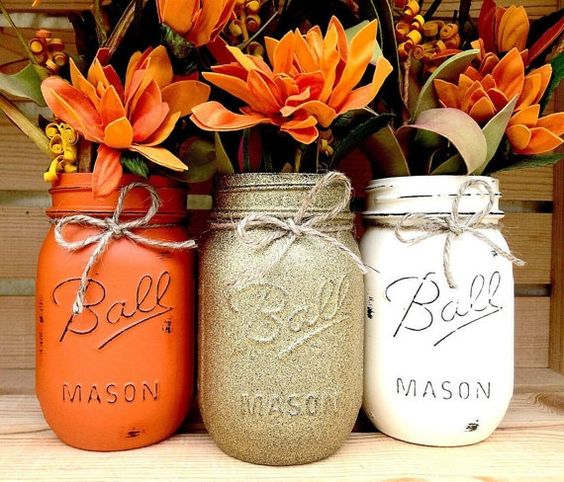 Fall DIY Mason Jars via Her Campus | http://www.roseclearfield.com