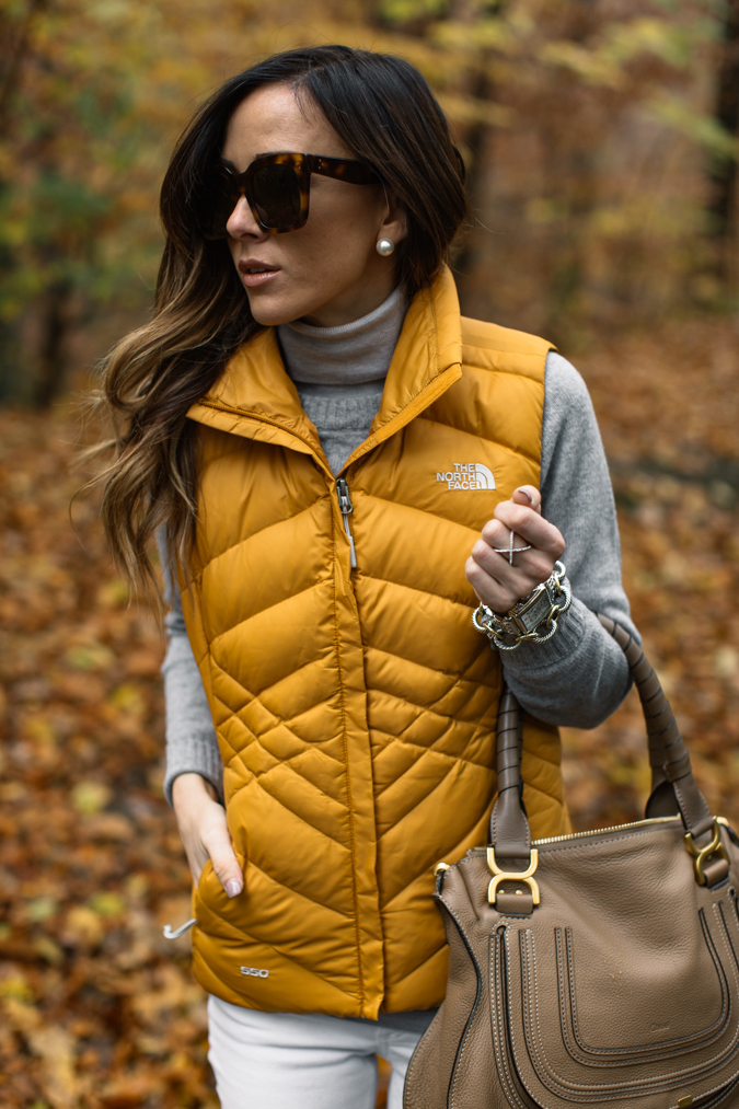 Puffer Vest Sweater Fall Outfit via Sequins and Things | http://www.roseclearfield.com