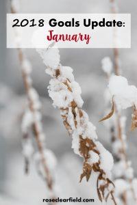 January 2018 Goals Update | https://www.roseclearfield.com