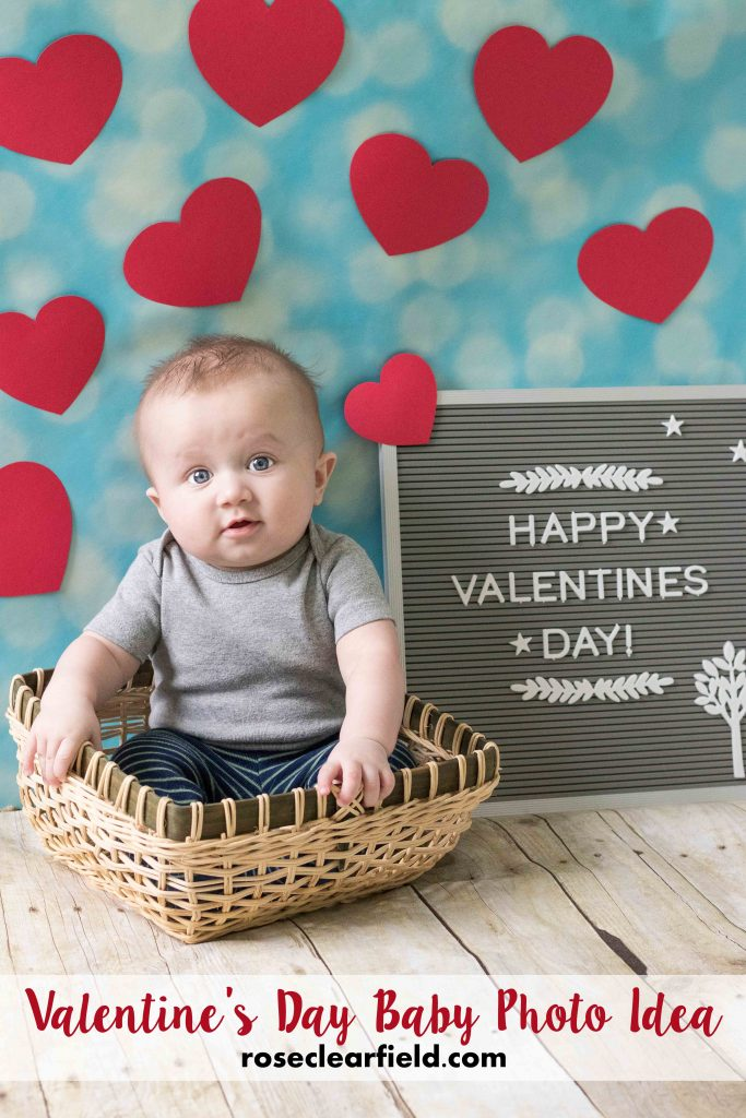 Valentines Day Baby Photo Idea Rose Clearfield