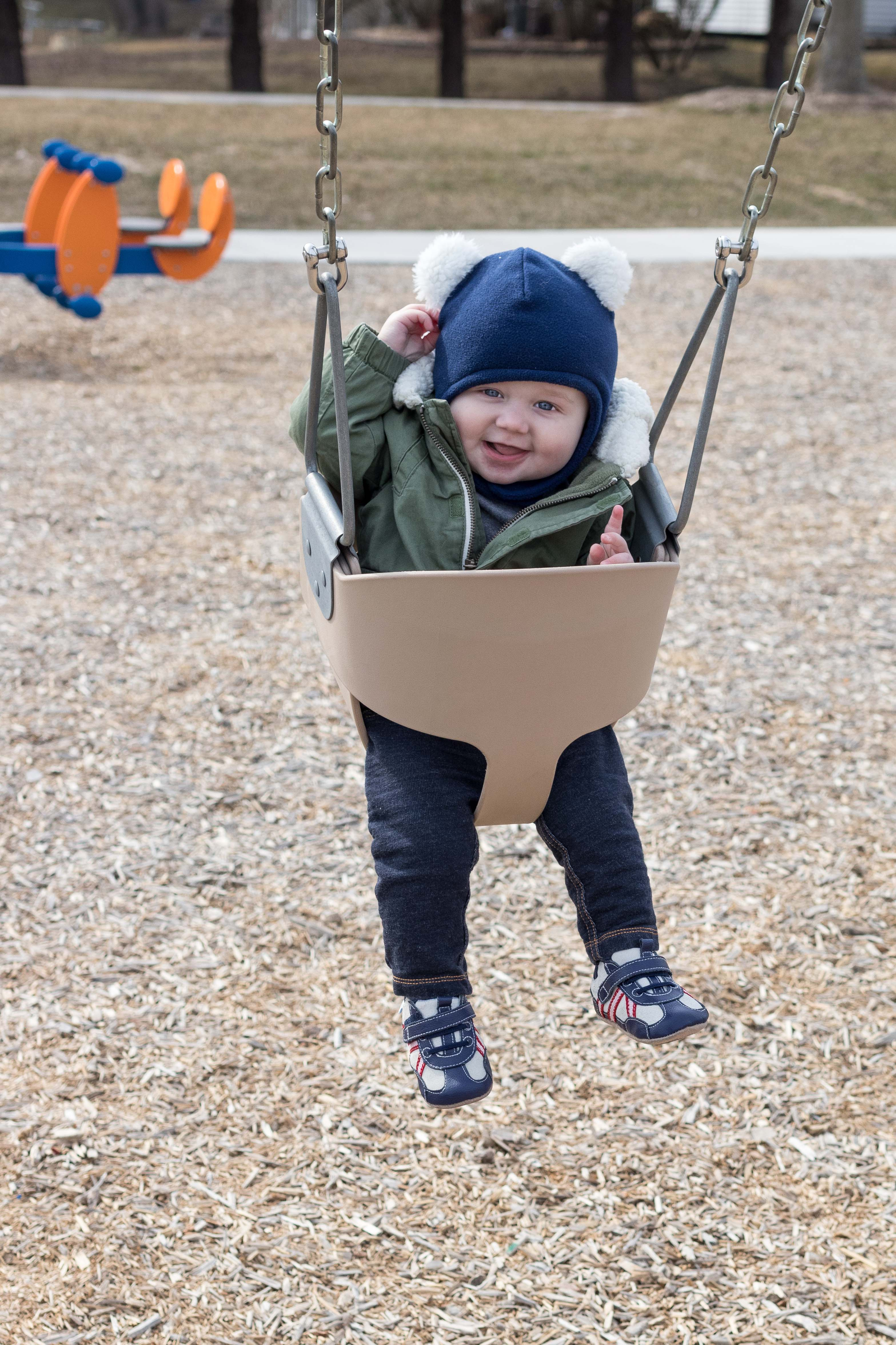 Tommy in the Bucket Swing April 2018 | http://www.roseclearfield.com