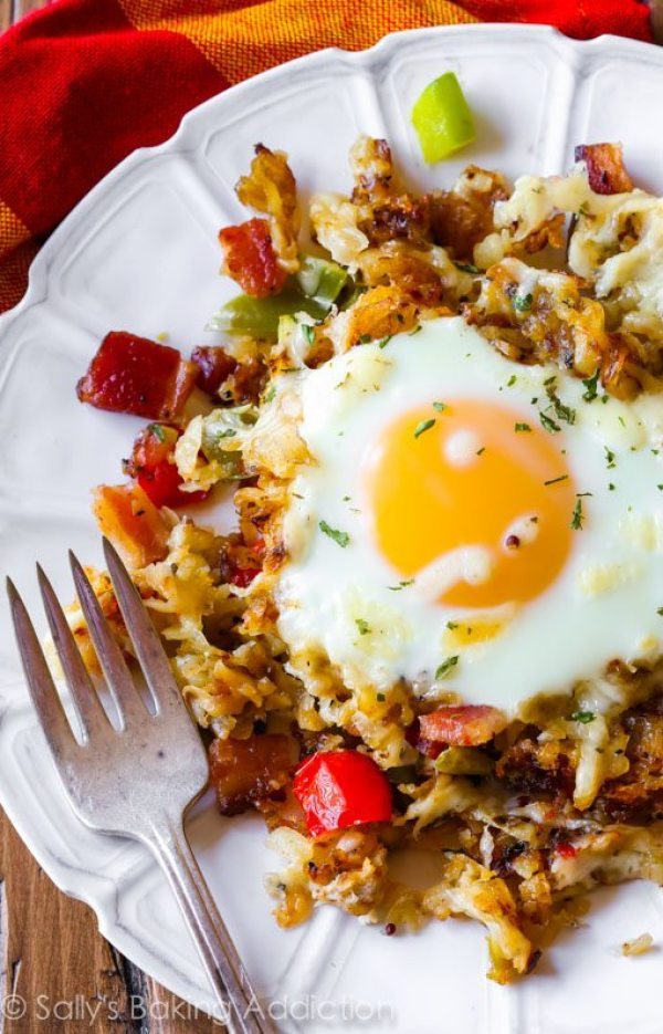 Breakfast for Dinner Ideas - Crispy Hash Breakfast Skillet Sally's via Baking Addiction | http://www.roseclearfield.com