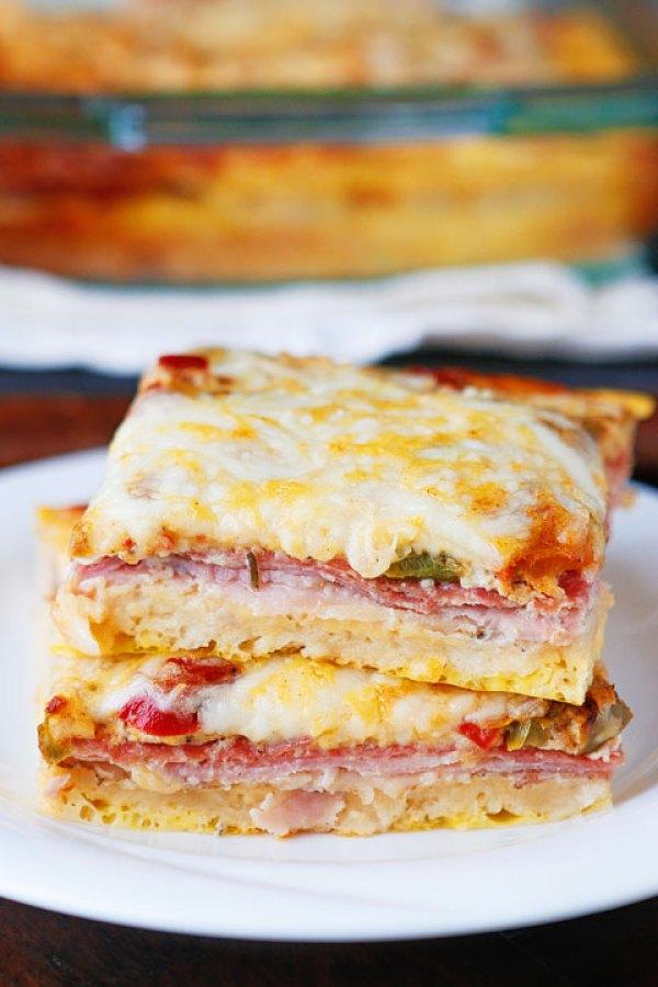Breakfast for Dinner Ideas - Italian Breakfast Casserole via Kevin and Amanda | http://www.roseclearfield.com