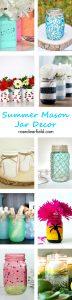 Summer Mason Jar Decor | https://www.roseclearfield.com
