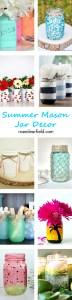 Summer Mason Jar Decor | http://www.roseclearfield.com