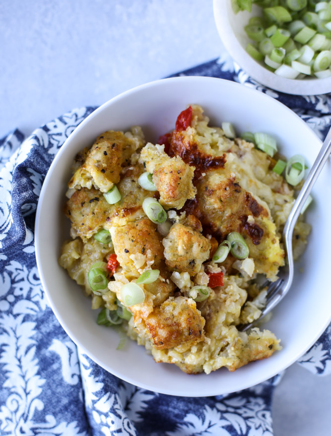 Breakfast for Dinner Ideas - Tater Tot Breakfast Skillet via How Sweet Eats | http://www.roseclearfield.com