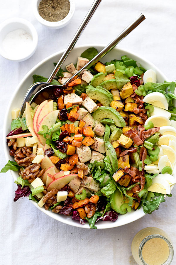 Back to School Healthy Lunches for Adults - Autumn Cobb-Salad via foodiecrush | http://www.roseclearfield.com