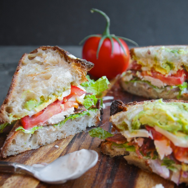 Back to School Healthy Lunches for Adults - Cobb Salad Sandwich via Shutterbean | http://www.roseclearfield.com