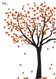 Free Fall Printables Round Up - Fall Tree Printable via Evalily | http://www.roseclearfield.com