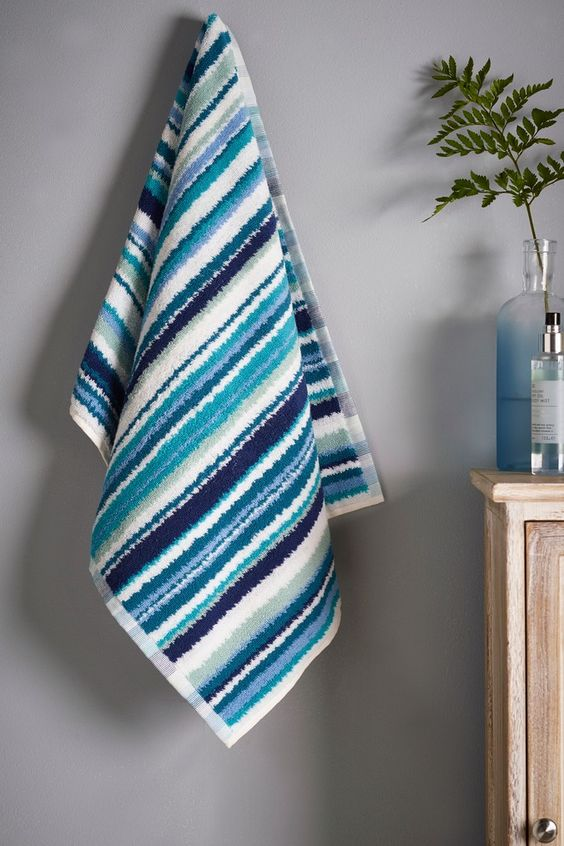 Stripes Inspiration - Striped Towel via Next | https://www.roseclearfield.com