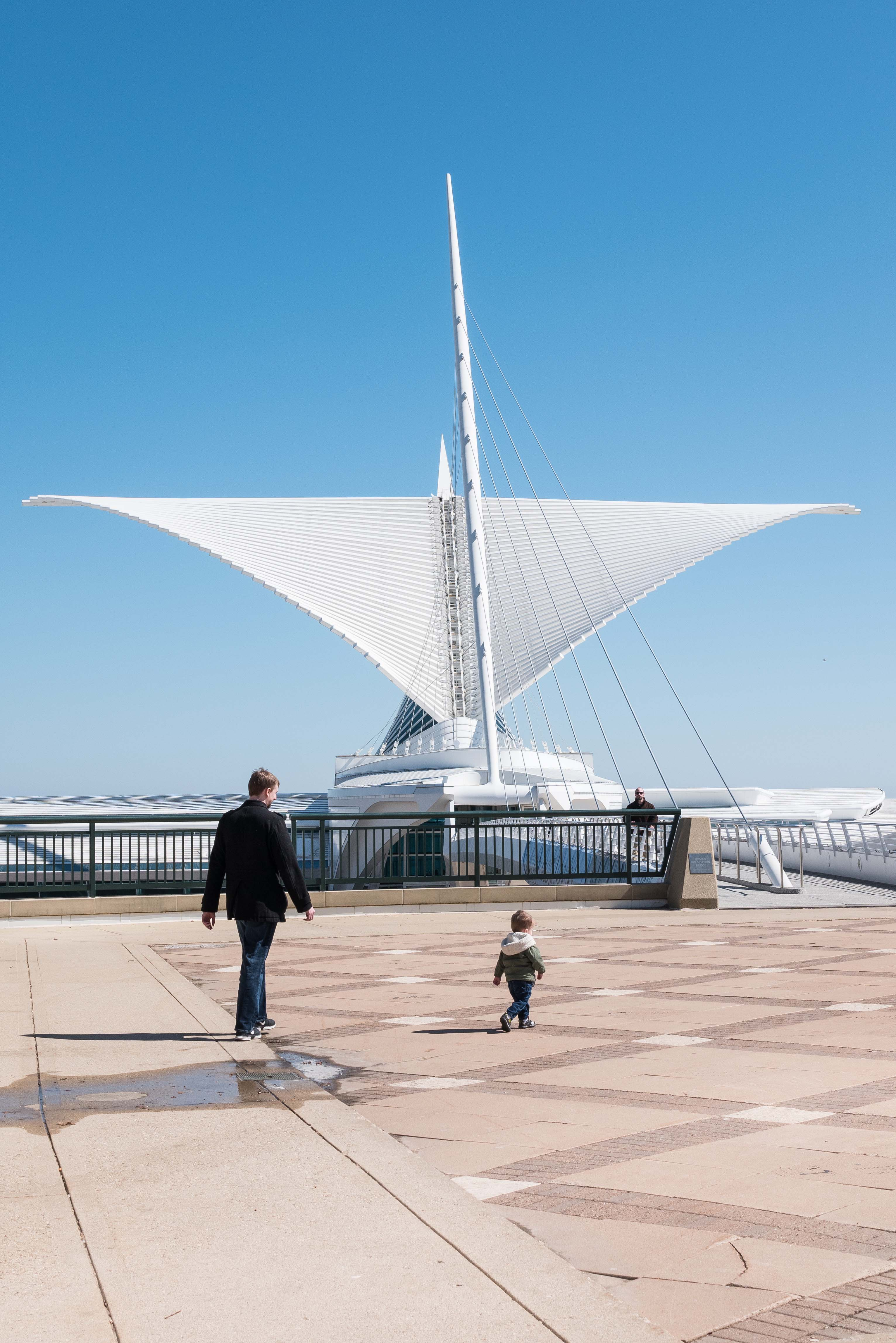Jake and Tommy at the Milwaukee Art Museum March 2019 | https://www.roseclearfield.com