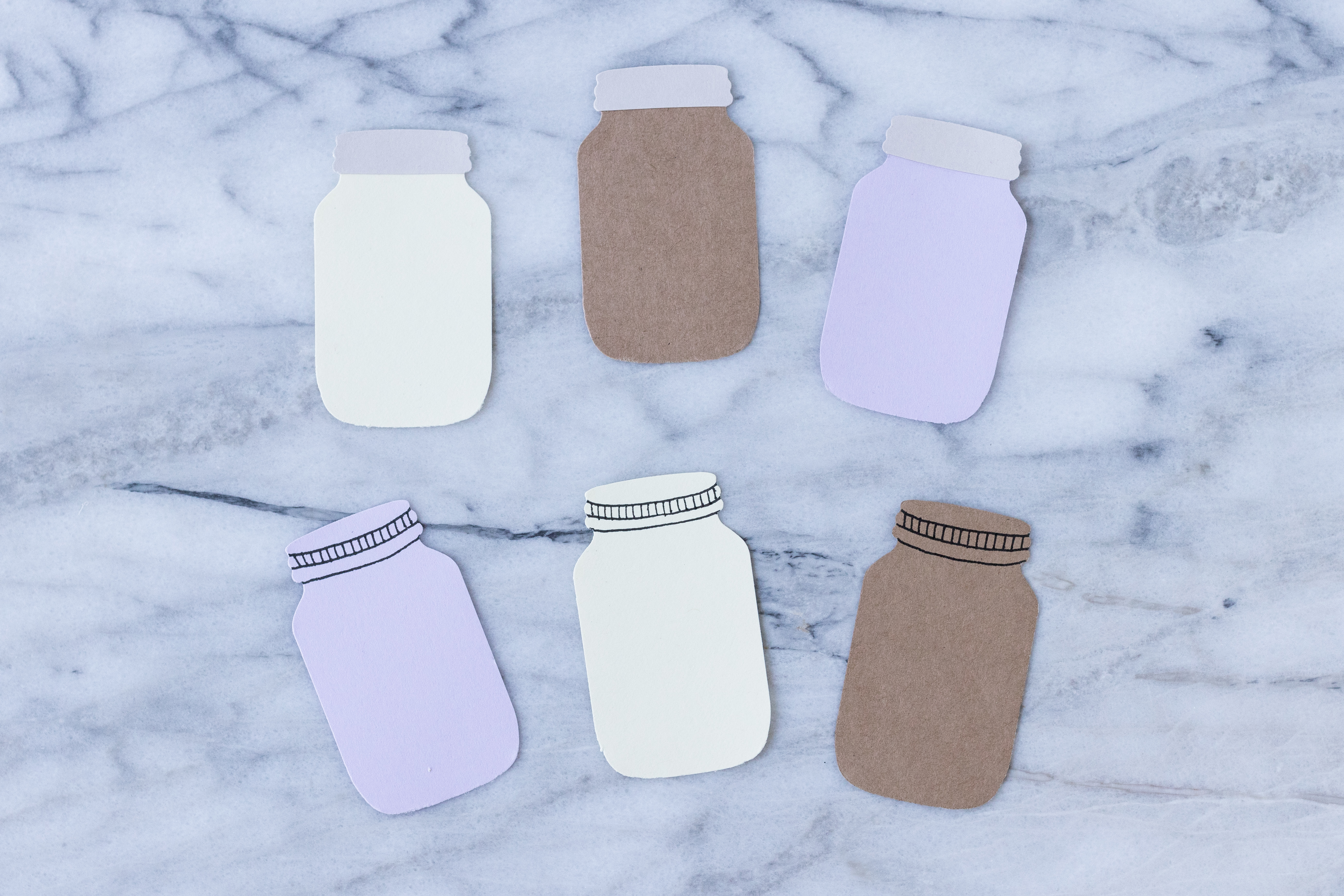 Paper punched mason jars for DIY scrapbook embellishments. #DIY #masonjars #scrapbookembellishments | https://www.roseclearfield.com