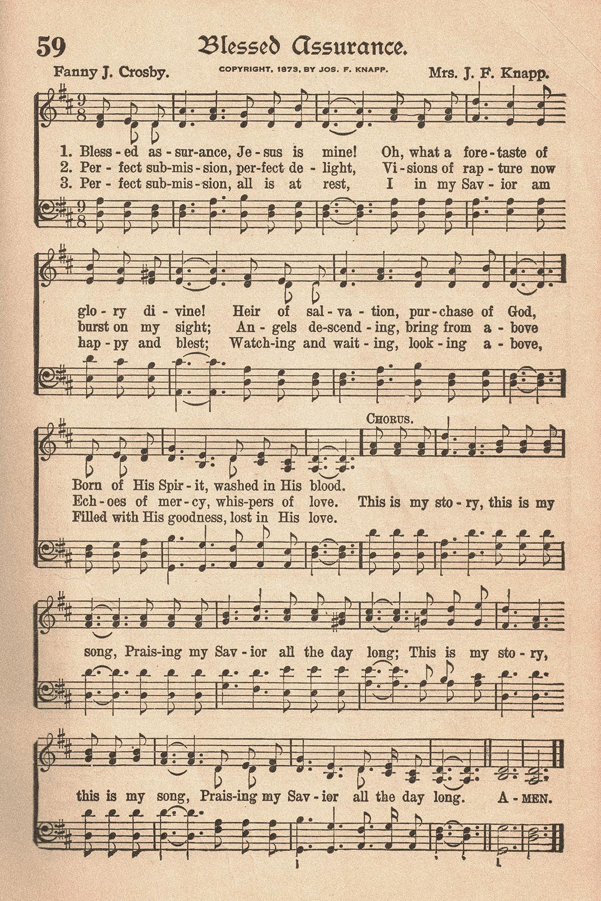 Free Printable Vintage Hymns Sheet Music Rose Clearfield