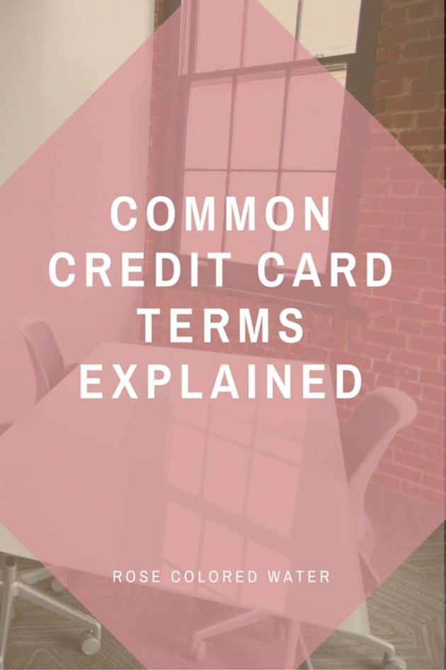 Understanding Credit Card Terms: Explained in easy-to-read information
