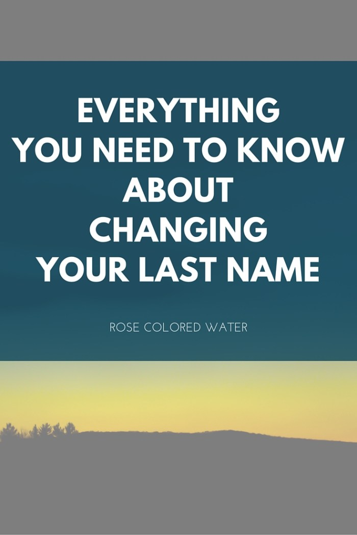 What you need to know about changing your last name