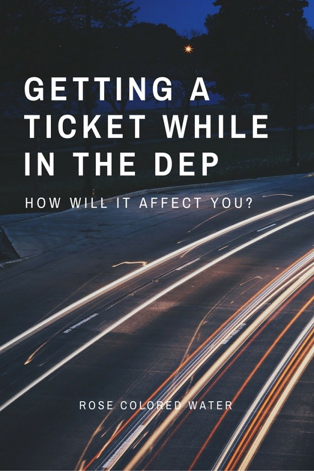 How getting a ticket affects you in the Delayed Entry Program