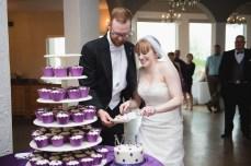 Feeding each other cake!