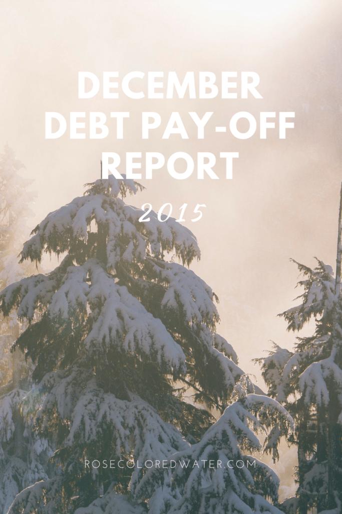 December 2015 Debt Pay-Off Report